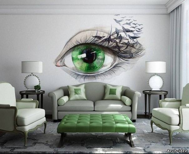 Arch id e les id es for Dessin mural peinture